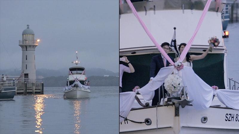 romantic yacht party - unique ideas for wedding march ins